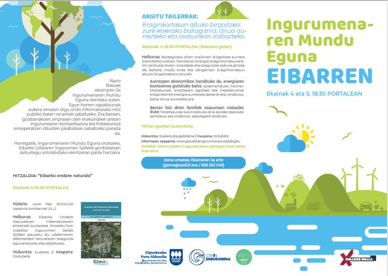 El Ayuntamiento de Eibar se suma un año más a la celebración del Día Mundial del Medio Ambiente