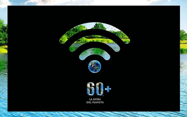 """Imagen de la iniciativa """"La Hora del planeta""""."""