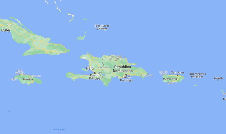 Mapa de Haití.
