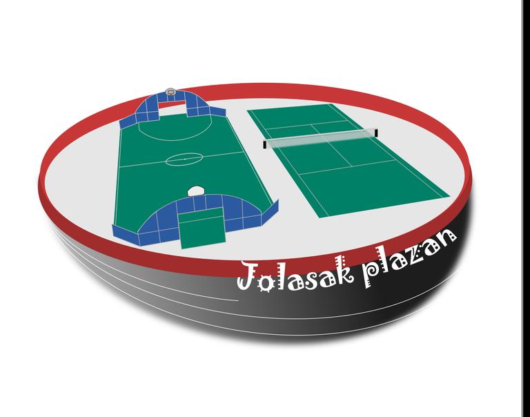 El nuevo espacio recreativo de la plaza de toros de Eibar se inaugura el sábado con juegos y actividades lúdicas