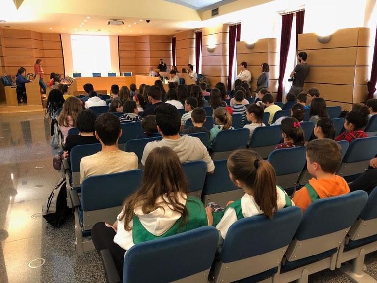 Esta mañana se ha celebrado el Pleno de la Agenda 21 Escolar en Eibar