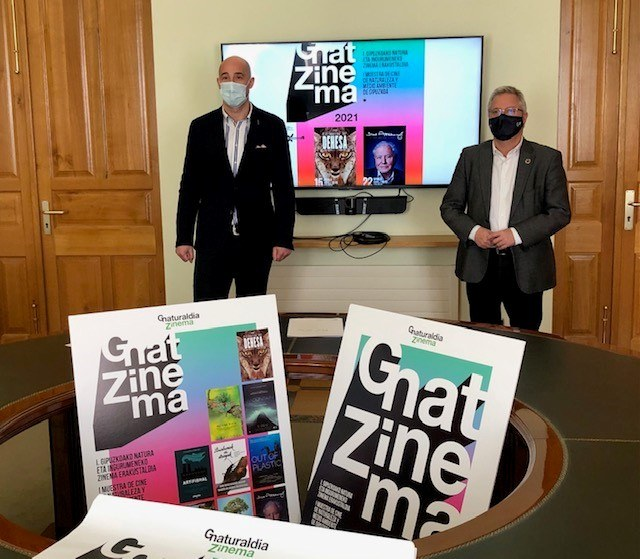 Imagen de la presentación de la I Muestra de Cine de Naturaleza y Medio Ambiente de Gipuzkoa.