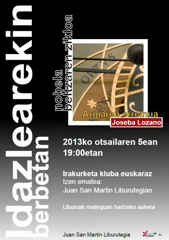 Idazlearekin berbetan: club de lectura en euskera