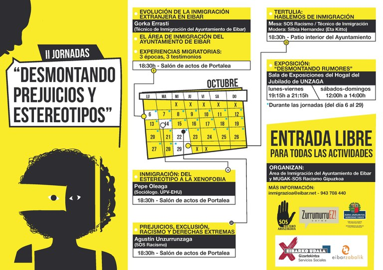 """II Jornadas """"Desmontando prejuicios y estereotipos"""" en octubre"""