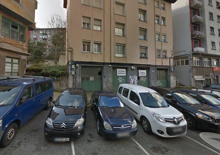 Lugar donde se ubicarán los nuevos ascensores públicos, junto al número 2 de Ubitxa.