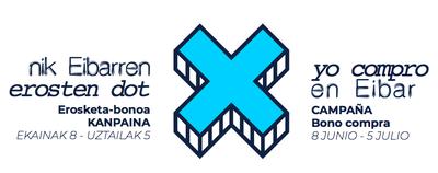 Logotipo de la campaña 'Nik Eibarren erosten dot'.