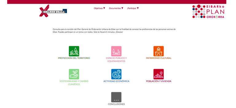 Imagen del apartado 'Participa' de la nueva web del PGOU (Plan General de Ordenación Urbana).