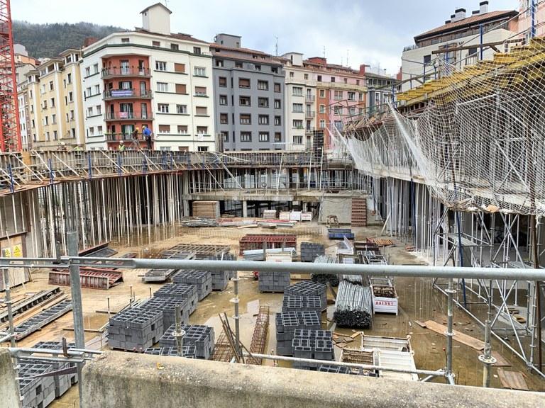La construcción del espacio multiusos de Errebal Plazia estará finalizada, previsiblemente, en noviembre del próximo año 2020