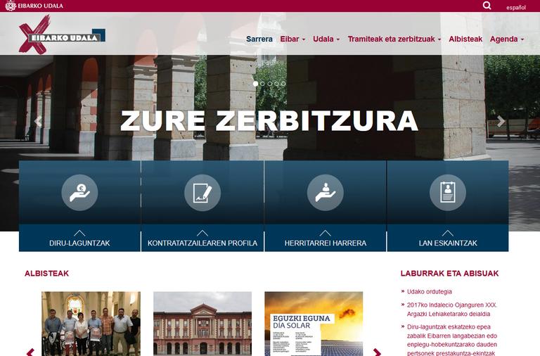 La portada principal de la página web municipal se renueva en su totalidad
