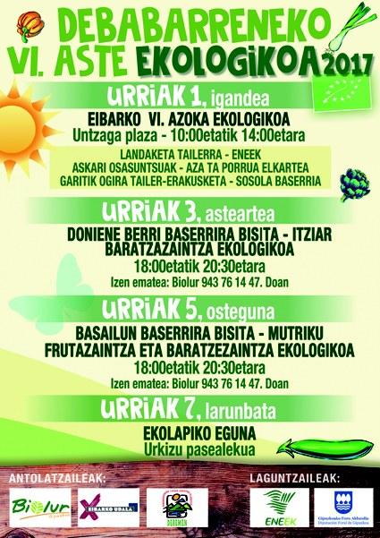 La VI Semana Ecológica de Debabarrena se desarrollará entre el 1 y el 7 de octubre