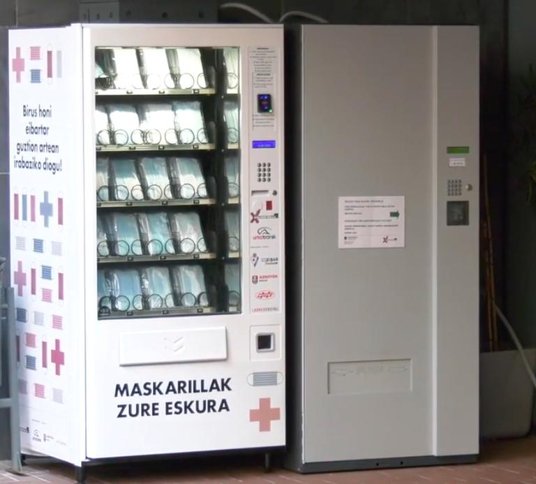 Máquina de vending, ubicada en el polideportivo Orbea.