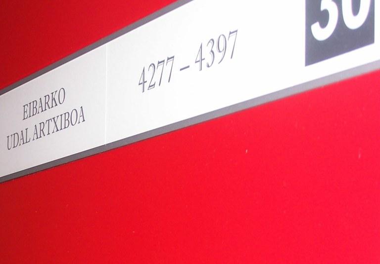 Los números del Archivo municipal.