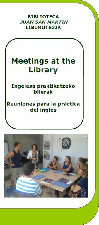 Meetings at the Library: reuniones para practicar inglés