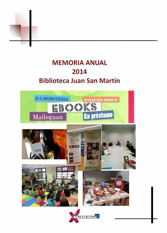 Memoria 2014 de la Biblioteca municipal