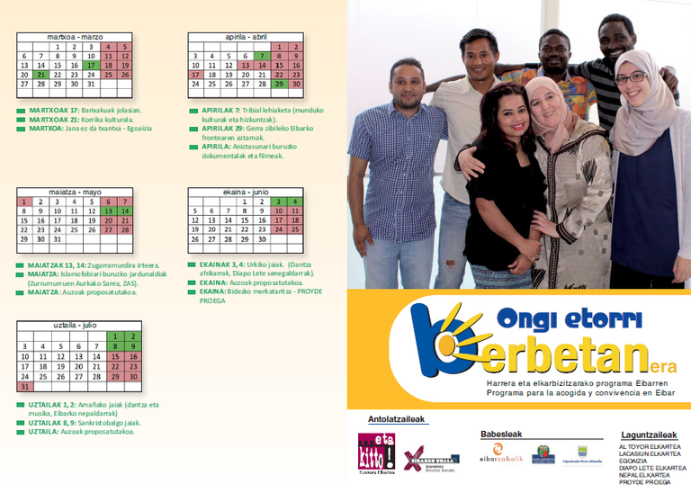 'Ongi etorri BERBETANera!', una nueva oportunidad para impulsar la multiculturalidad y la convivencia entre vecinos y vecinas en Eibar