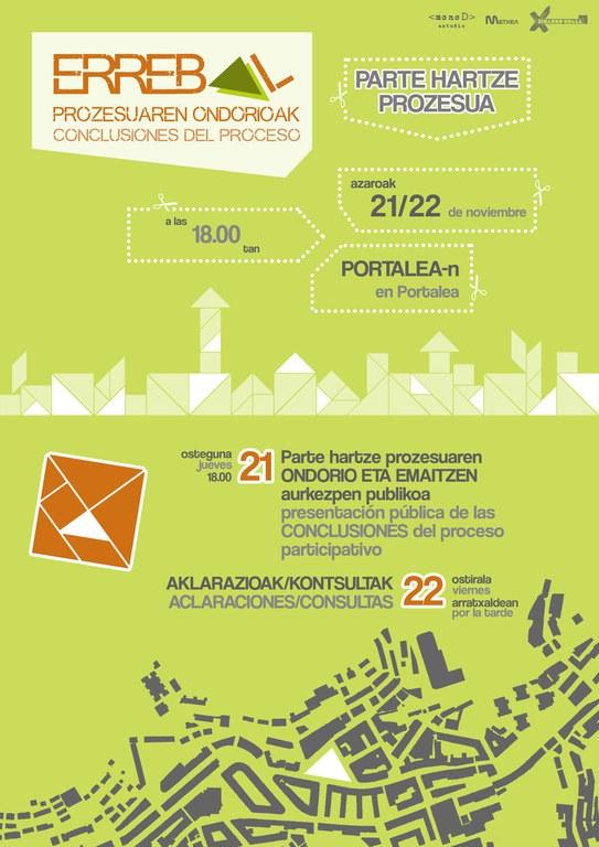Presentación pública de las conclusiones del proceso participativo Errebal