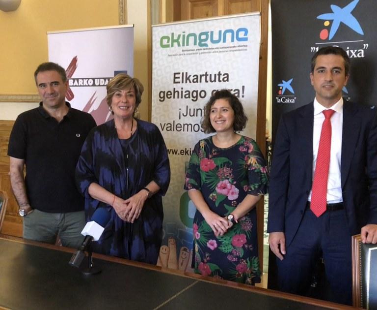 Presentada la VI edición del concurso de ideas y proyectos empresariales 'On Ekin'