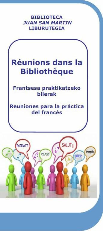 Réunions dans la Bibliothèque: reuniones para practicar francés