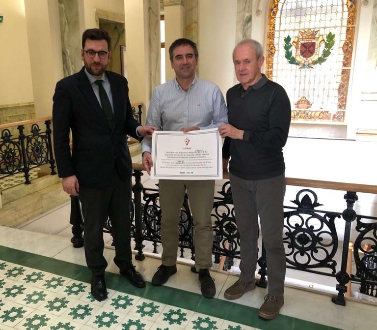 SD Eibar Fundazioa ha entregado 6.893,98 euros al Ayuntamiento de Eibar, ante la situación de emergencia de Arragueta