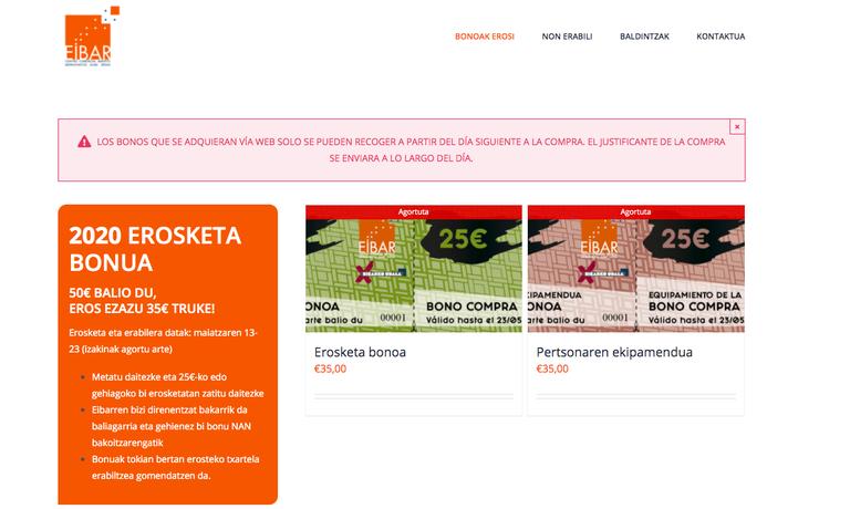 Imagen de la página web nikeibarrenerostendot.eus.