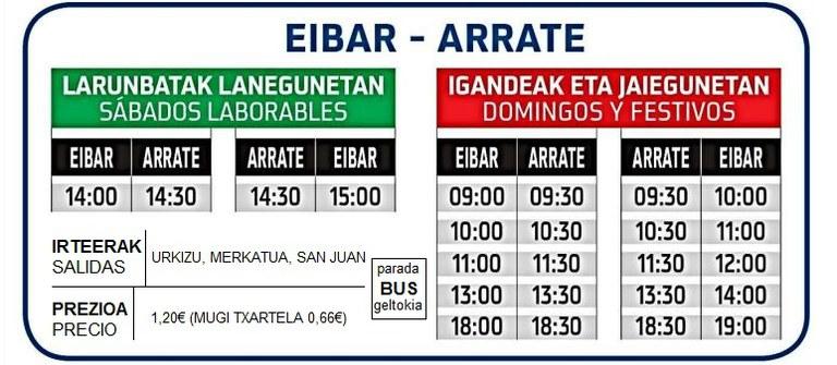 Eibar-Arrate autobus zerbitzuaren hedapena