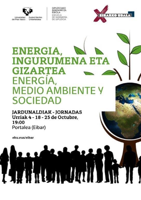 'Energia, Ingurumena eta Gizartea' izeneko jardunaldiak hartuko ditu Portaleak urriaren 4an, 18an eta 25ean