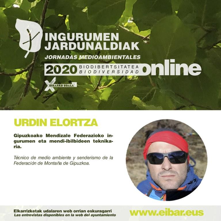 Urdin Elortza, Gipuzkoako Mendizale Federazioko ingurumen eta mendi-ibilbideen teknikaria.
