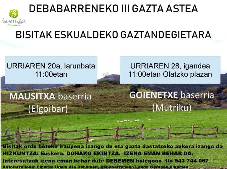 'Debabarreneko III. Gazta Astea' egingo da urriaren 19tik 28ra bitartean