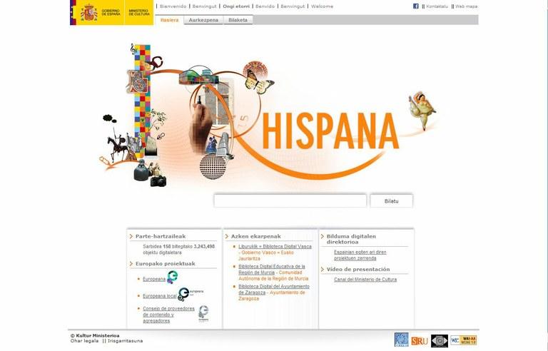 Eibarko Liburutegiko fondo digitalizatua orain ere Hispanan