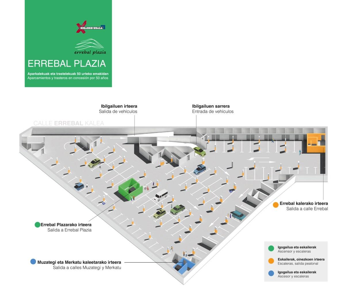 'Errebal Plazia' eraikineko 101 garaje-plazen zozketa astelehen honetan egingo da, maiatzaren 31n