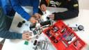 Euskadiko 1. hezkuntza robotika txapelketa Astelena frontoian