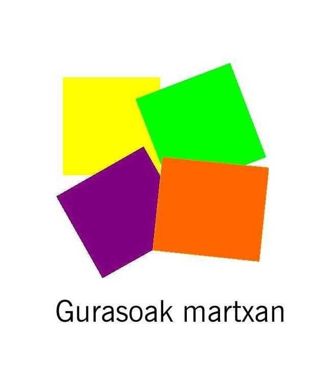 """""""Gurasoak Martxan"""" ekimeneko logotipoa."""