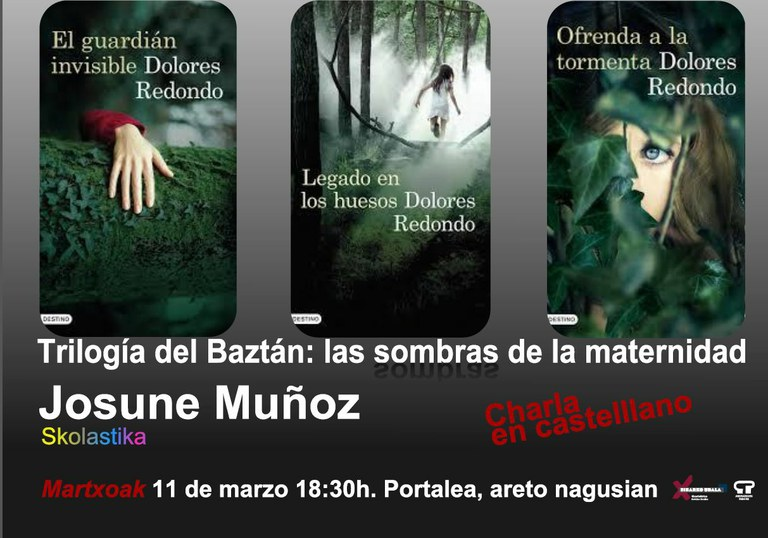 """Hitzaldia: """"Trilogia del Baztan"""": amatasunaren itzalak"""