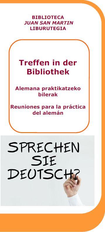 Treffen in der Bibliothek: alemana praktikatzeko bilerak Liburutegian