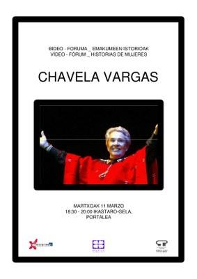 Bideo Foruma Emakumeen istorioak: Chavela Vargas @ Portaleko ikastaro gelan
