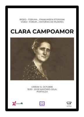 Emakumeen istorioen bideo-Foruma: Clara Campoamor @ Portaleko ikastaro-gela
