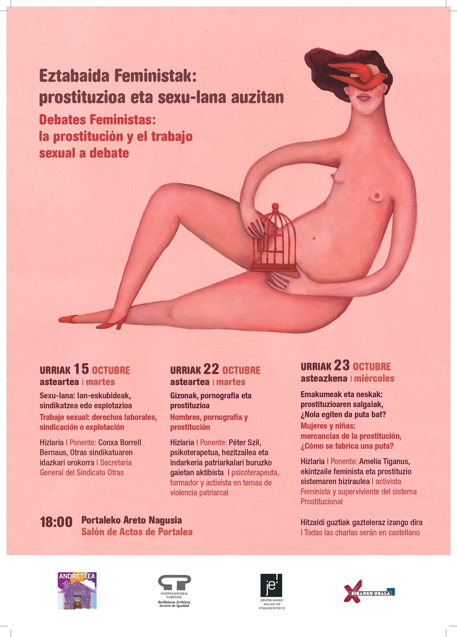Eztabaida Feministak: prostituzioa eta sexu-lana auzitan. Gizonak, pornografia eta prostituzioa hitzaldia