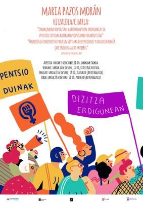 Hitzaldi irekia: Emakumeak kontuan hartuko dituen pentsio sistema eta ekonomia baterako proposamen feministak