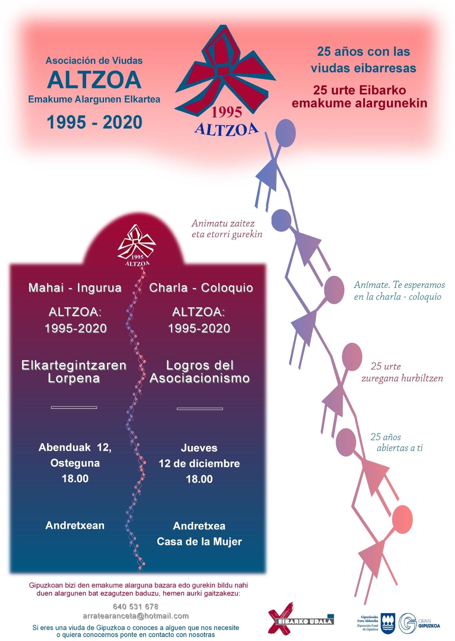 Mahai-ingurua. Altzoa: 1995-2020 Elkartegintzaren lorpena