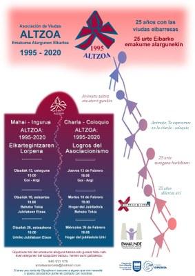 """Mahai-ingurua: """"Altzoa: 1995-2020 Elkartegintzaren lorpenak"""" @ Urkiko jubilatuen etxean"""