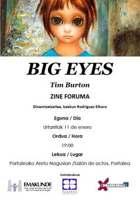 Zine-Foruma: Big Eyes @ Portaleko Areto Nagusian