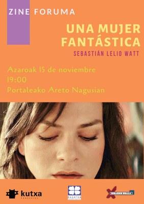 """Zine-Foruma: """"Una mujer fantástica"""" @ Portalean"""