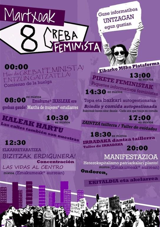 Martxoaren 8an: Greba Feminista