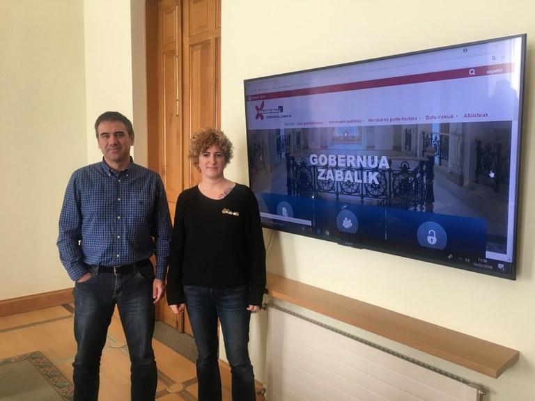"""""""Gobernua Zabalik: gardentasuna, herritarren parte-hartzea eta datu irekiak"""" mikrosite berria udal-webgunean"""