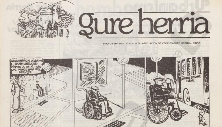 """""""Amaña Hauzoa"""" izeneko orrixka xumeetatik """"Gure Herria"""" aldizkari sendora: Ego Ibarra batzordeak """"Gure Herria"""" auzo-elkarteak 70ko hamarkadan argitaratu zuen aldizkariaren ale batzuk digitalizatu ditu eta webgune honetan kaleratu."""