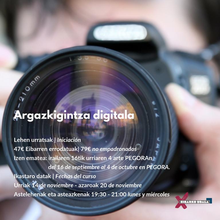 Argazkigintza digitala: lehen urratsak - 2019ko ikastaroa