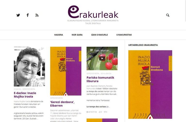 eRakurleak, eLiburutegiko euskal literaturaren irakurketa talde digitala aurkeztu zen Portalean