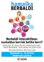 """""""Berbaldi interaktiboa: euskaldun berriak betiko berri?"""" izeneko hitzaldia hartuko du Udaletxeko patioak, abenduaren 11n"""