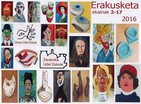 Dibujo eta zeramika udal eskolen ikasturte amaierako erakusketa hartuko du Portaleak