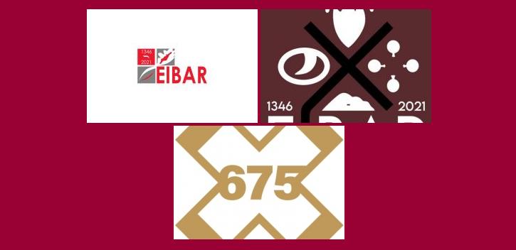 Eibarko herriaren 675. urteurrenaren logotipoa: hiru finalistak hautatuta, irabazlea aukeratzeko fasea ireki da